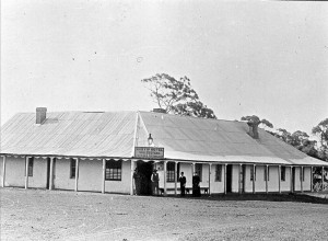 "The ""new"" Bunyip Hotel located near the Prices Highway and the Bunyip River, 1890. Photo courtesy of Museum Victoria and copied from a photograph owned by  S.Gerdtes"