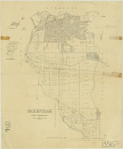 1883, Map of Beaconsfield to Upper Beaconsfield and Pakenham. Photo Courtesy of The State Library of Victoria.