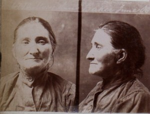 Mugshot of Mary Anne Baker, 1906. Photo Courtesy of PROV.