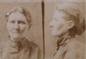 Mugshot of Ellen Stevens, 1906. Photo Courtesy of PROV.