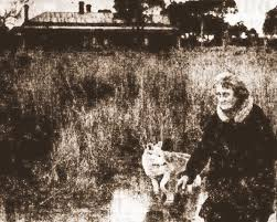Margaret Clement and her little dog Dingo.