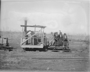 First Class Travel on the Koo Wee Rup Swamp. Photo courtesy of the State Library of Victoria