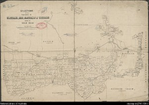 1914 With the Haunted Hills Marked. Map courtesy of the State Library of Victoria