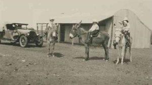 Four Children on Donkeys. Arrabury Station approximately 1925. Photo Courtesy of the State Library of South Australia