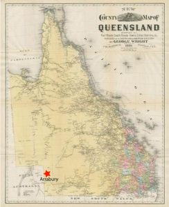 1881 Map of Queensland.  Photo Courtesy of the State Library of Queensland